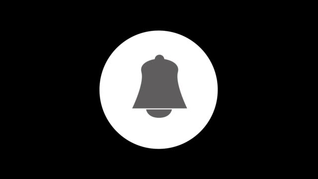Social Media Bell shape Notification Animation. Social Media Notification Animation.  Bell shape notification on phone with shake and fade in & out motion effect. alertness stock videos & royalty-free footage