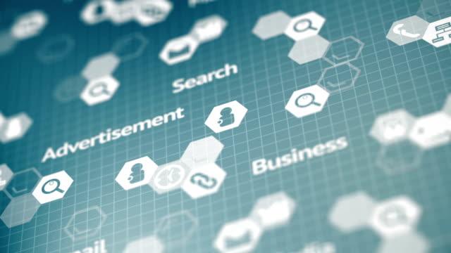 社会的なメディア、ビジネス infographics 背景 - ブランディング点の映像素材/bロール