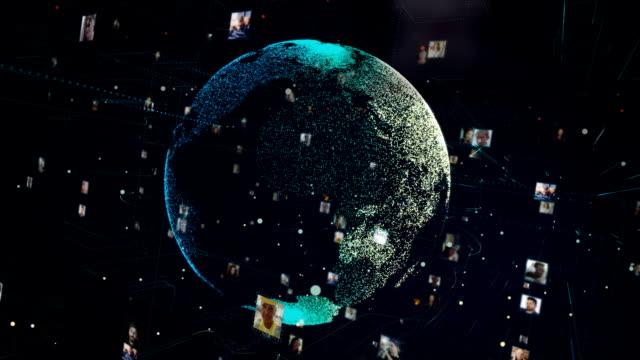sociala mediekommunikation hitech globe - jorden nyheter bildbanksvideor och videomaterial från bakom kulisserna