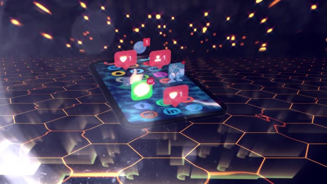 social media concept mobile user - digital marketing stock videos & royalty-free footage