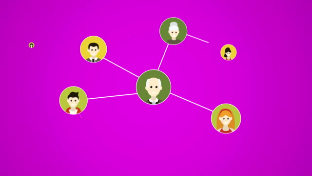 4 k ソーシャル メディア, 家族, people(loopable) を接続します。 - 鎖の輪点の映像素材/bロール
