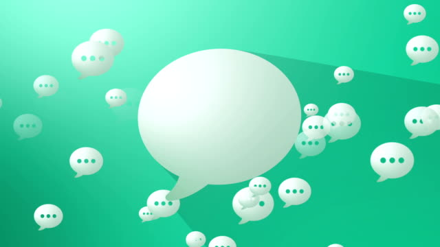 Social Media Green Blank Speech Balloon video