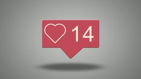 Social media heart counter Social media heart counter following moving activity stock videos & royalty-free footage