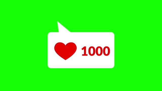 Social media heart counter Social media red heart counter speech bubble stock videos & royalty-free footage