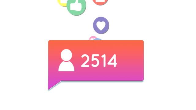 Social media icons 4k