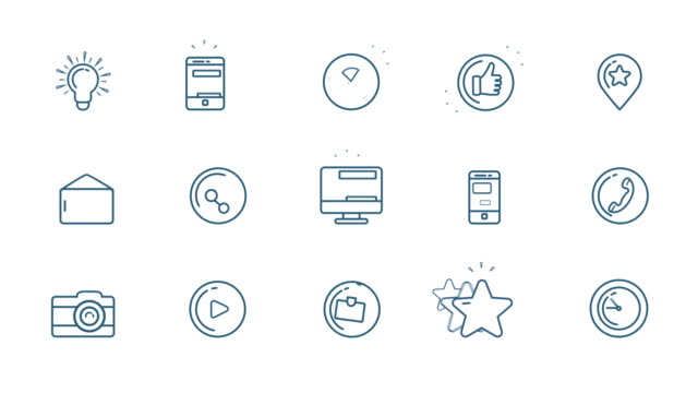 social media icons set - people icon video stock e b–roll