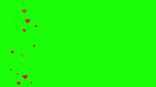 vidéos et rushes de les médias sociaux apparaissent sur les écrans verts - coeur