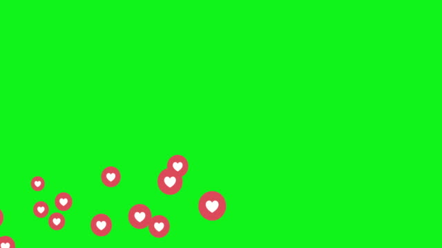 social media live style animated heart on green screen - instagram filmów i materiałów b-roll