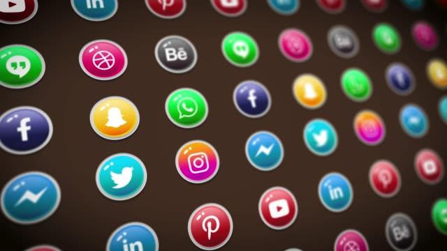 Social Media Logo Compilation Animation. Social Media Background, Social Network, Marketing. video