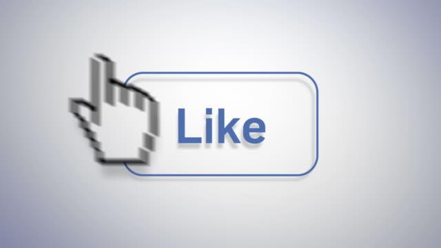 social media marketing - icona mi piace video stock e b–roll