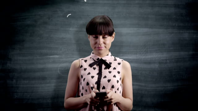 Social media networking on a blackboard