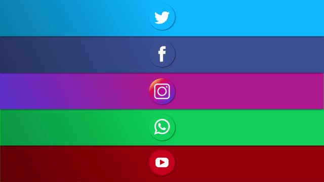 animation von social media-plattformen (grüner bildschirm) - social media icons stock-videos und b-roll-filmmaterial