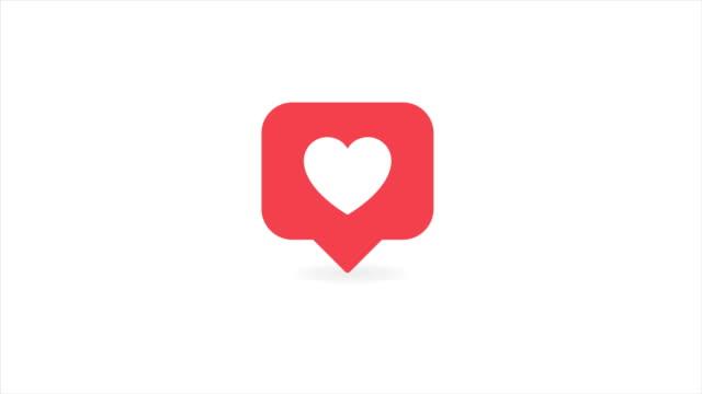 stockvideo's en b-roll-footage met sociale media rode hartteller, toont als op een transparante achtergrond. 4k - bewondering
