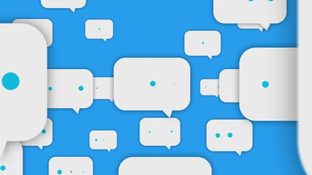 Social Media Speech Bubbles Flying To Camera USA, Bubble, Message, 4K Resolution, Abstract faq stock videos & royalty-free footage