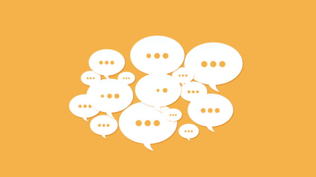 Social Media Speech Bubbles Social media dotted speech balloons background animation speech bubble stock videos & royalty-free footage