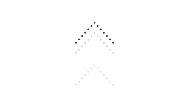 social media-swipe-animation auf einem schwarz-weißen hintergrund. motion graphic design mit alphakanal. wischen sie animierte grafiken nach oben. - schriftrolle stock-videos und b-roll-filmmaterial