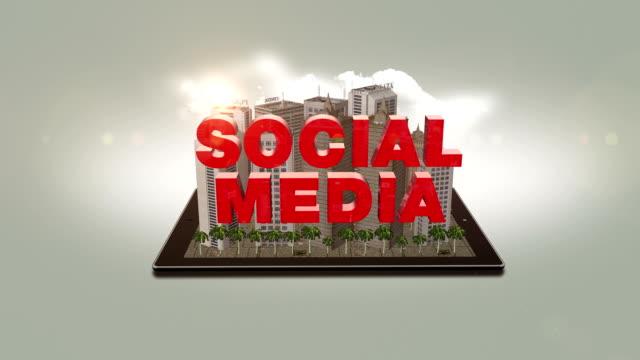 Social Media Text In The Digital City video