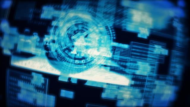 ソーシャル メディア ユーザー プロファイル人情報コンセプト アニメーションが飛ぶ - 鎖の輪点の映像素材/bロール