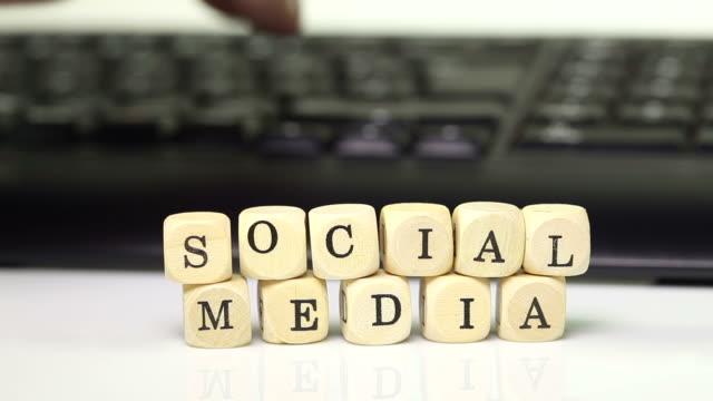 social media with keyboard video