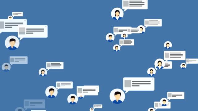 社会的なネットワークとメディアのフライ トラフ 4 k loopable - グローバル点の映像素材/bロール