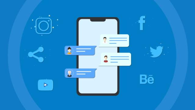 4K Social network and Media Loopable Corporate Business, Global Business, Information Medium, Stock Market Data, Social Media digital marketing stock videos & royalty-free footage