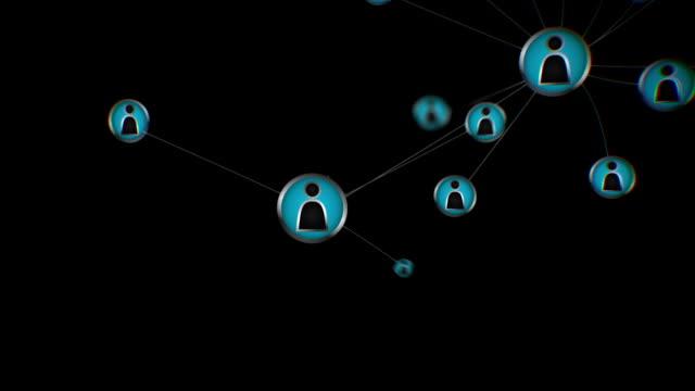 Social network. Black background video