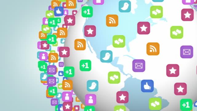 ソーシャルネットワークの概念の背景 - 豊富点の映像素材/bロール