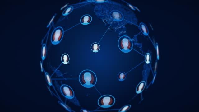 social network connection world globe - идентификация личности стоковые видео и кадры b-roll