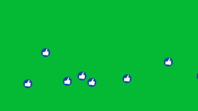 social network: emoji come schermo verde - icona mi piace video stock e b–roll