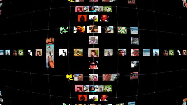 vidéos et rushes de réseau social grille - quadrillage