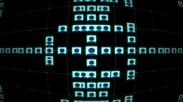 Social Network Grid video