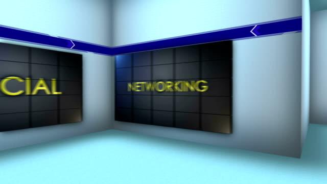 Social Network in Monitors and Room, Loop video