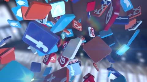 soziales netzwerk-media-marketing - kommunikation themengebiet stock-videos und b-roll-filmmaterial