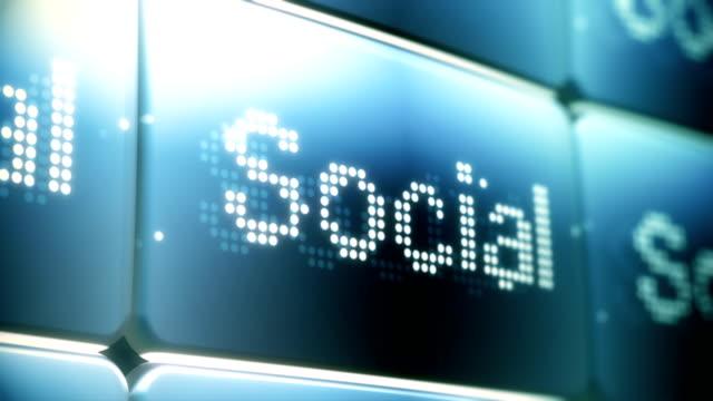 Social Network Screen Animation HD, SD video