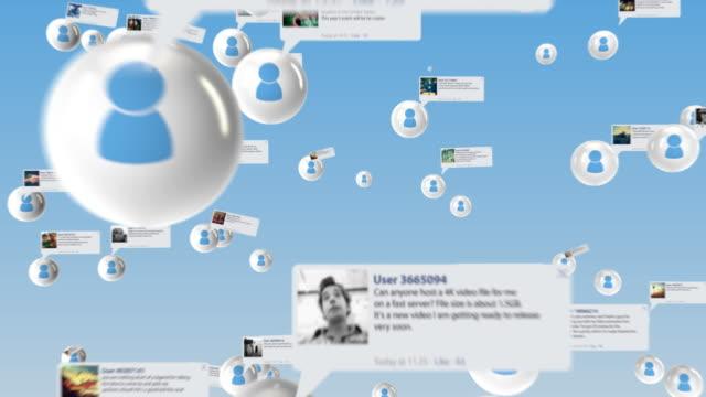 soziales netzwerk mit weißen benutzer - klatsch stock-videos und b-roll-filmmaterial