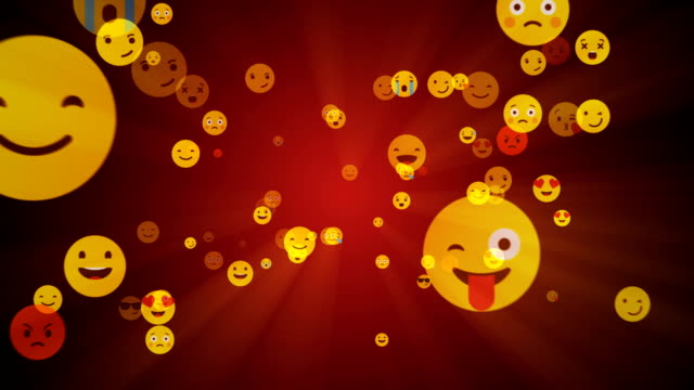 Social Networking and Emoji Smile - Alpha Channel