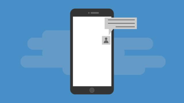 sosyal konuşma animasyon - sms göndermek stok videoları ve detay görüntü çekimi