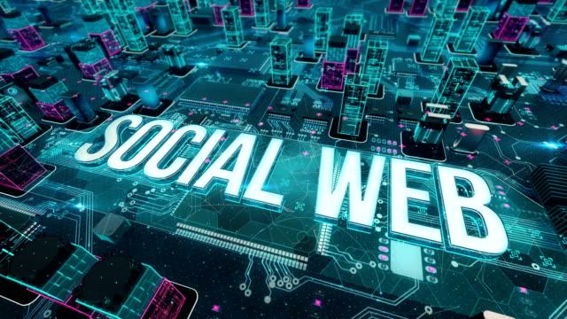 vídeos de stock, filmes e b-roll de social web com o conceito de tecnologia digital - tag