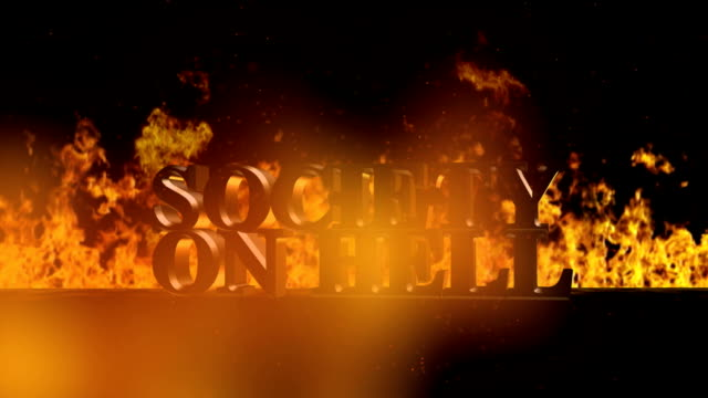 Society on Fire Burning Hot Word in Fire video