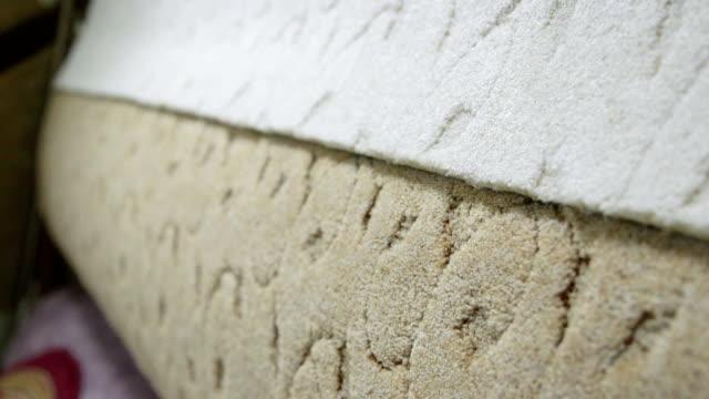 Soft carpet flooring in building materials shop warehouse video