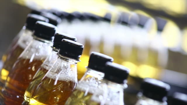 Soft Drink Bottling Line Close-up video