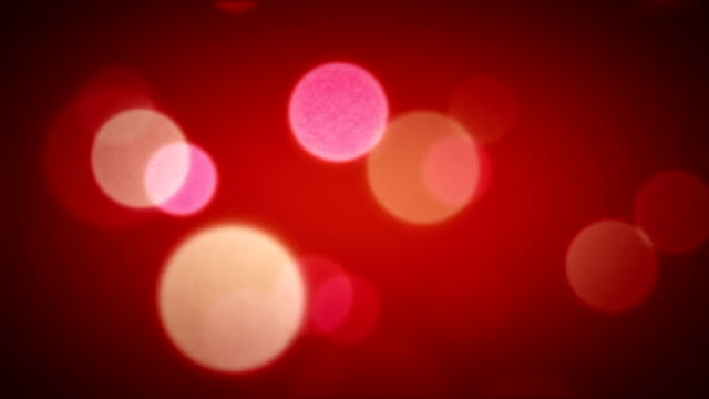 Soft Focus Light Particles Red video