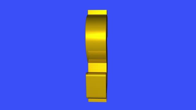 weichen goldenen dollarzeichen spinnerei animation nahtlose schleife auf blauem hintergrund - animiert neue qualität einzigartige finanzgeschäfte dynamischer bewegung videomaterial - dollarsymbol stock-videos und b-roll-filmmaterial