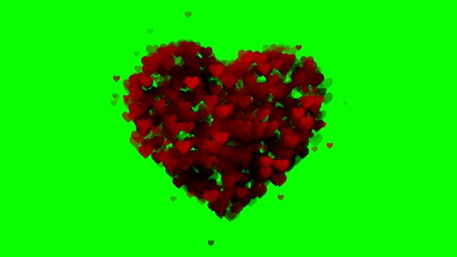 vídeos de stock, filmes e b-roll de coração mole fundo verde-caixa (loopable) - moda de casamento