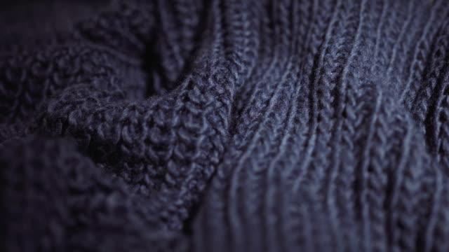 軟,針織,冬季,溫暖的紋理。使用作為背景。特寫的圍巾 - fabric texture 個影片檔及 b 捲影像