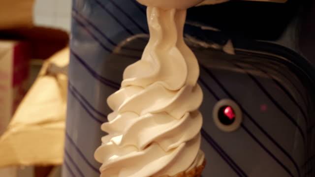 Soft serve ice cream making machine bar video
