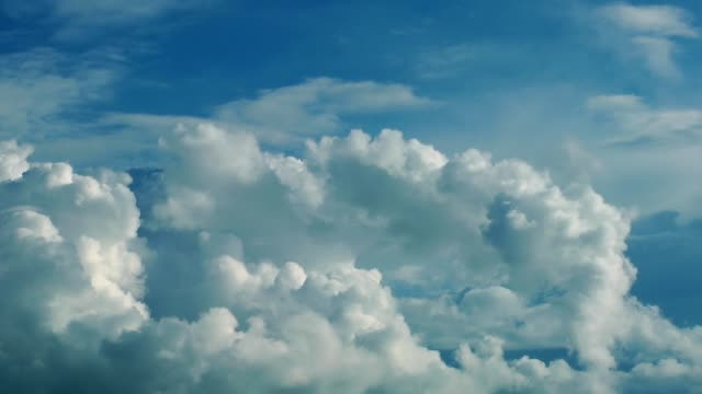 Soft Shiny Bright Clouds Time Lapse