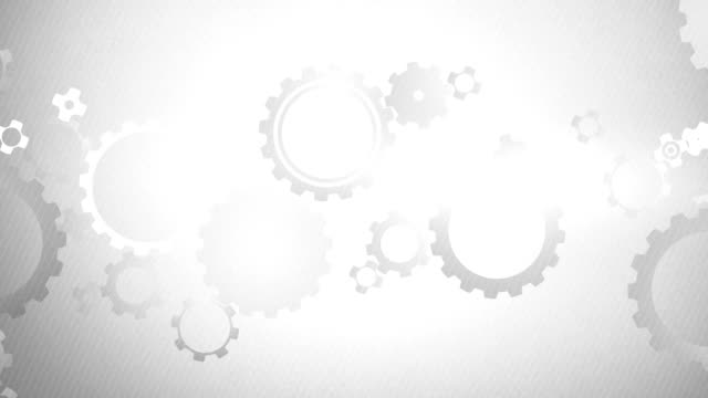 Soft Simple Cogs Background Loops X3 - Grey (Full HD) video