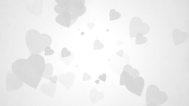 Soft Simple Hearts Background Loops X3 - Grey (Full HD)