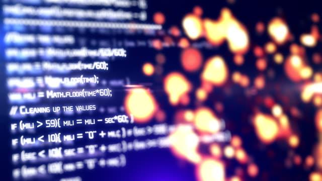 vídeos de stock e filmes b-roll de software developer programming code on computer - vírus informático